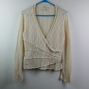 Soft Surrounding Cotton blend Knit Crochet Top